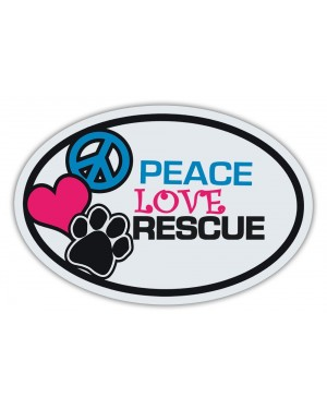 Peace Love Rescue Magnet