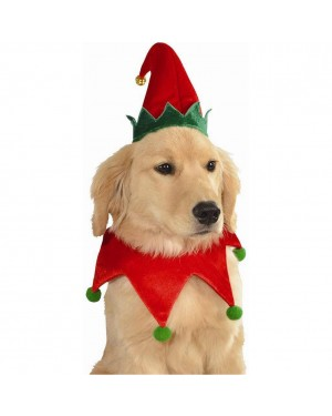 Elf Hat And Collar Pet Costume