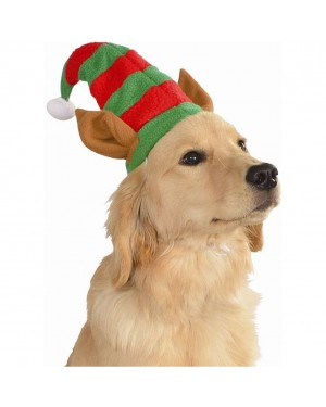 Elf Hat With Ears Pet Costume