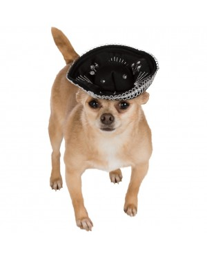 Black and Silver Pet Sombrero
