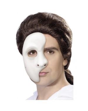 Phantom Of The Opera White Half Mask