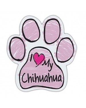 Pink I Love My Chihuahua Scribble Paw Magnet