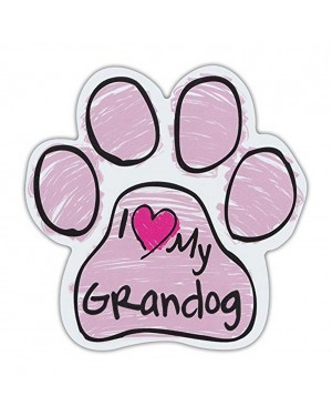 Pink I Love My Grandog Scribble Paw Magnet