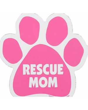 Pink Rescue Mom Paw Magnet