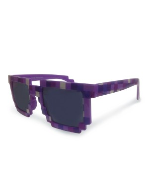 8-Bit Pixelated Purple Sunglasses