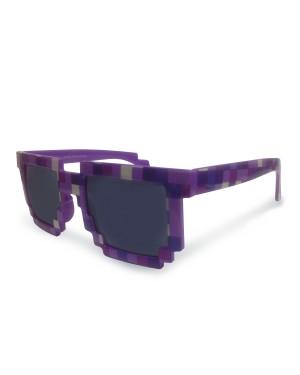 8-Bit Pixelated Purple Sunglasses