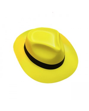 Plastic Yellow Fedora Hat