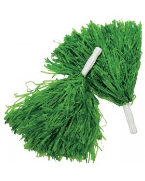 Green Pom-Poms (Pair)