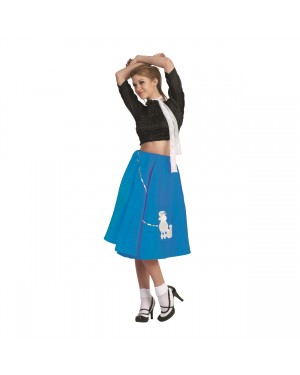 Blue Poodle Skirt