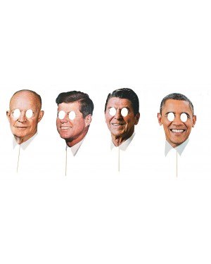 Modern Day Presidents Masks 4 Pack