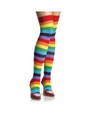 Rainbow Thigh High Socks