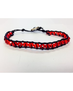 Red Single Wrap Stackable Bracelet
