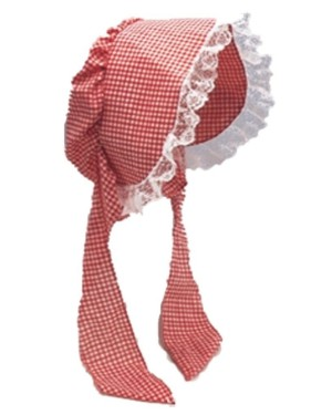 Red And White Checkered Bonnet