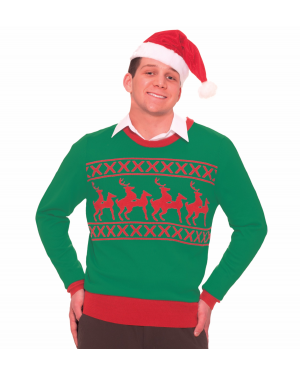 Naughty Reindeer Games Ugly Christmas Sweater