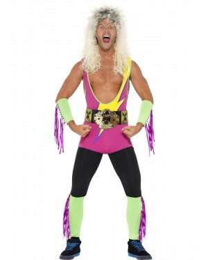 Retro Wrestler Adult Costume