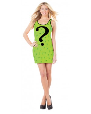 The Riddler From Batman Womens Tank Dress Costume