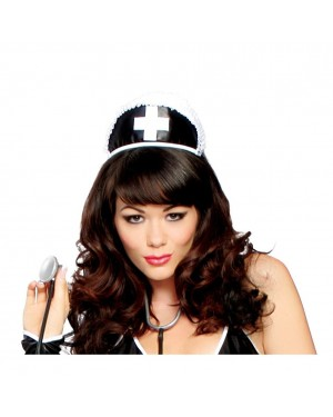 Black Nurse Cap With Cross