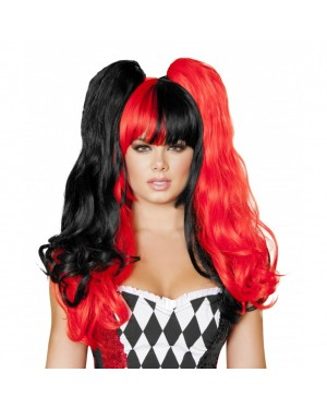 Red And Black Wig
