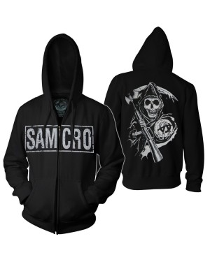 Sons of Anarchy Reaper Adult Zip Up Hoodie