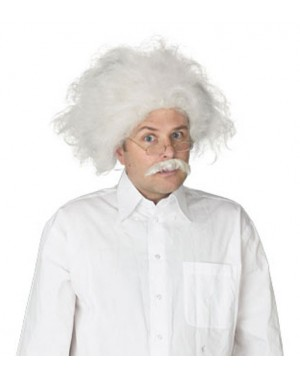 Scientist Wig And Mustache