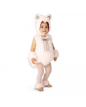 Shaggy Pink Kitty Toddler Costume