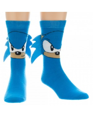 Sonic The Hedgehog Crew Socks With Quills (Pair)