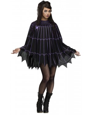 Spider Web Poncho Black/Purple - Solid Pack