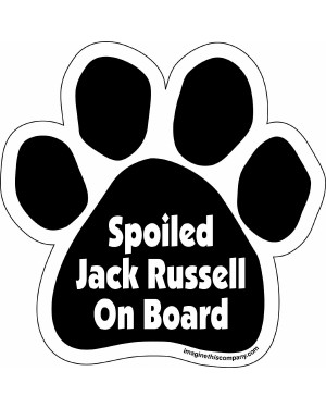 Spoiled Jack Russel On Board Paw Magnet