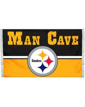 Pittsburgh Steelers Man Cave Flag