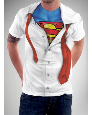 Clark Kent Youth Superman T-Shirt Costume