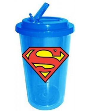 Superman Plastic Travel Flip Straw Cup