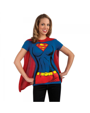 Supergirl Womens T-Shirt Costume Kit