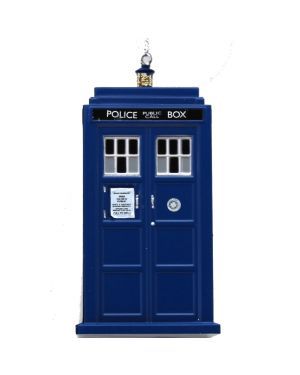 TARDIS Polixe Box Doctor Who PLASTIC Ornament