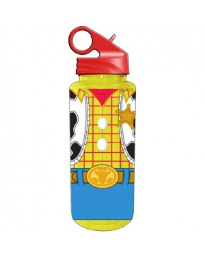 Toy Story Woody Uniform Flip Straw Water Bottle