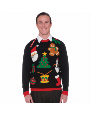 Black Ugly Christmas Sweater