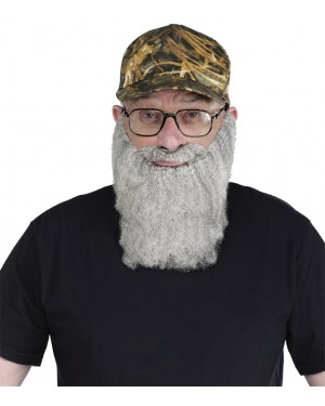 Uncle Si Crazy Quackers Camouflage Baseball Cap with Beard