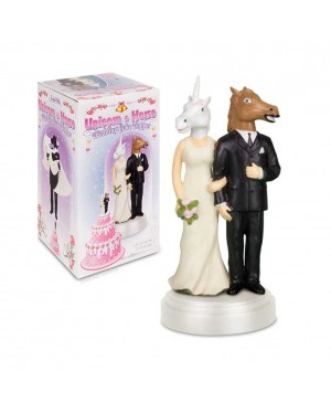 Unicorn and Horse Wedding Topper