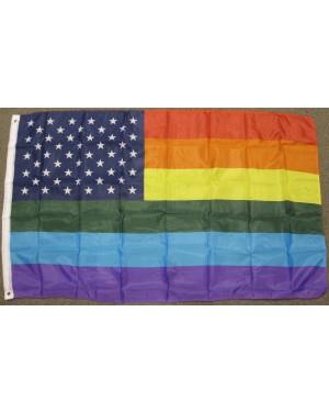 USA Rainbow 3' x 5' Flag