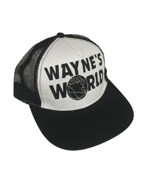 White Wayne's World Trucker Hat
