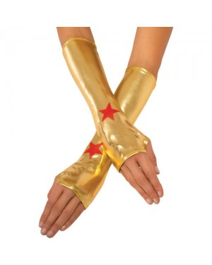 Wonder Woman Fingerless Glove Gauntlets