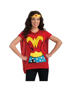 Wonder Woman Womens T-Shirt Costume Kit