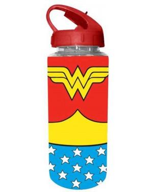 Wonder Woman Uniform Flip Straw Water Bottle