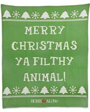 Merry Christmas Ya Filthy Animal Home Alone Fleece Throw Blanket