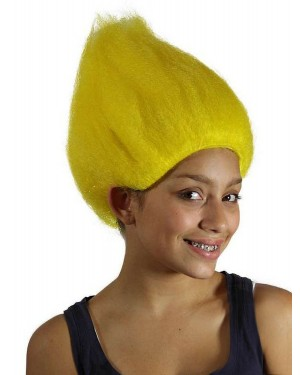 Yellow Troll Wig