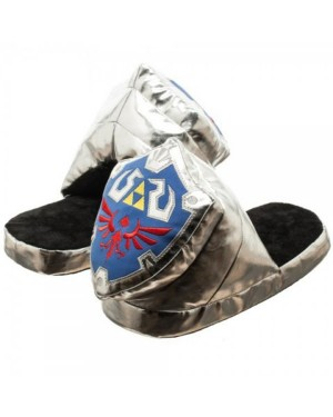 The Legend of Zelda Shield Nintendo Unisex Silver 3D Plush Slippers