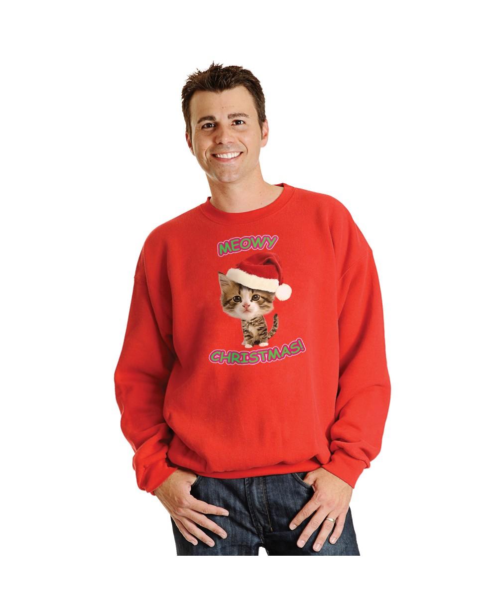 Caroling Kitty Ugly Christmas Sweater