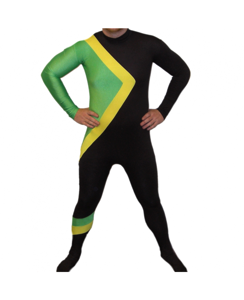 Jamaican Halloween Costume cool runnings jamaican bobsled team skin costume halloween party gift size s xxl More Views Jamaican Bobsled Team Costume