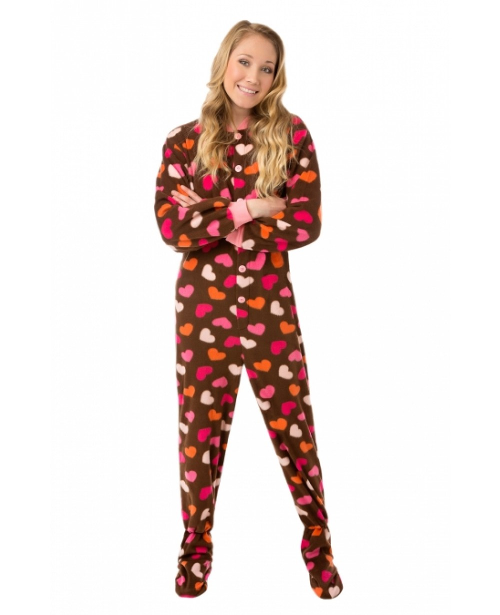 Adult pajamas with feet can find
