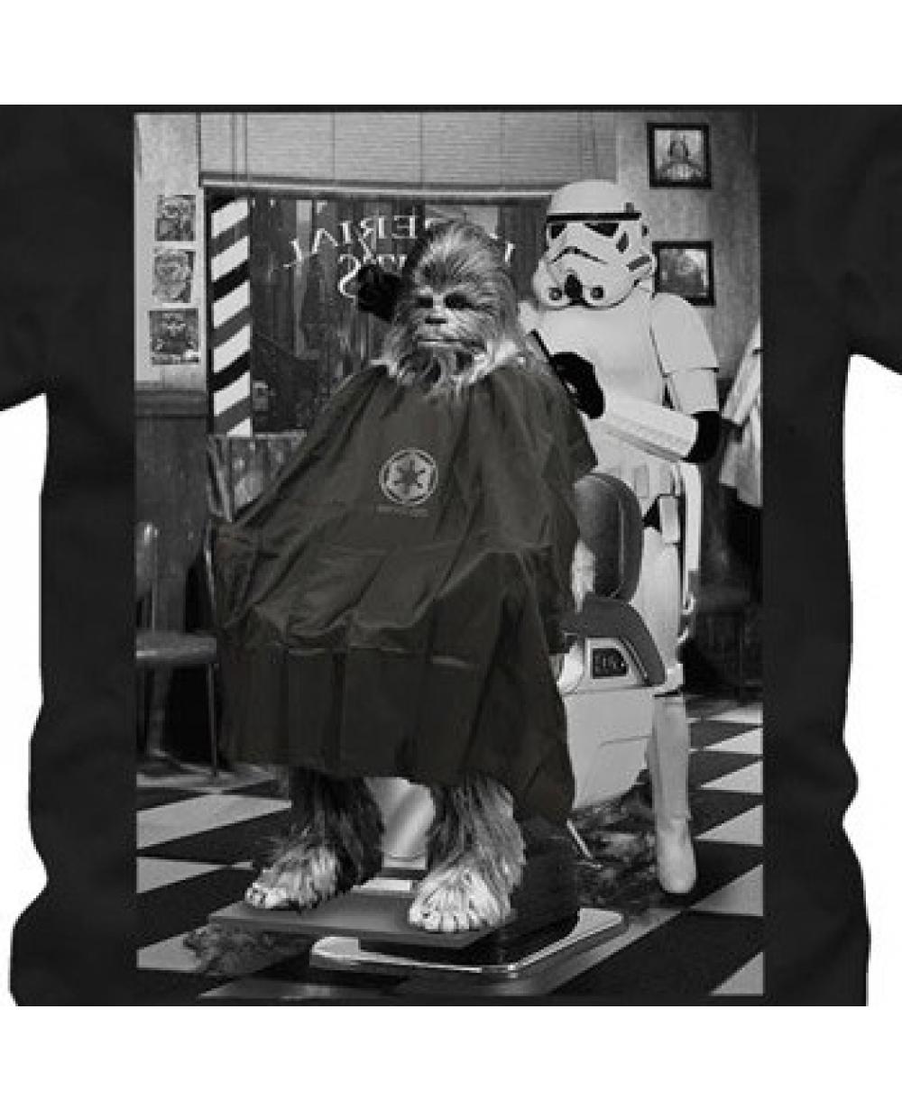 chewbacca barber shop star wars t shirt. Black Bedroom Furniture Sets. Home Design Ideas
