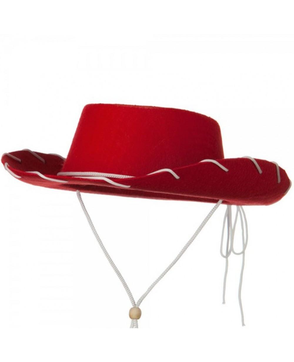 d71a147c3 Red Felt Cowboy Child Hat